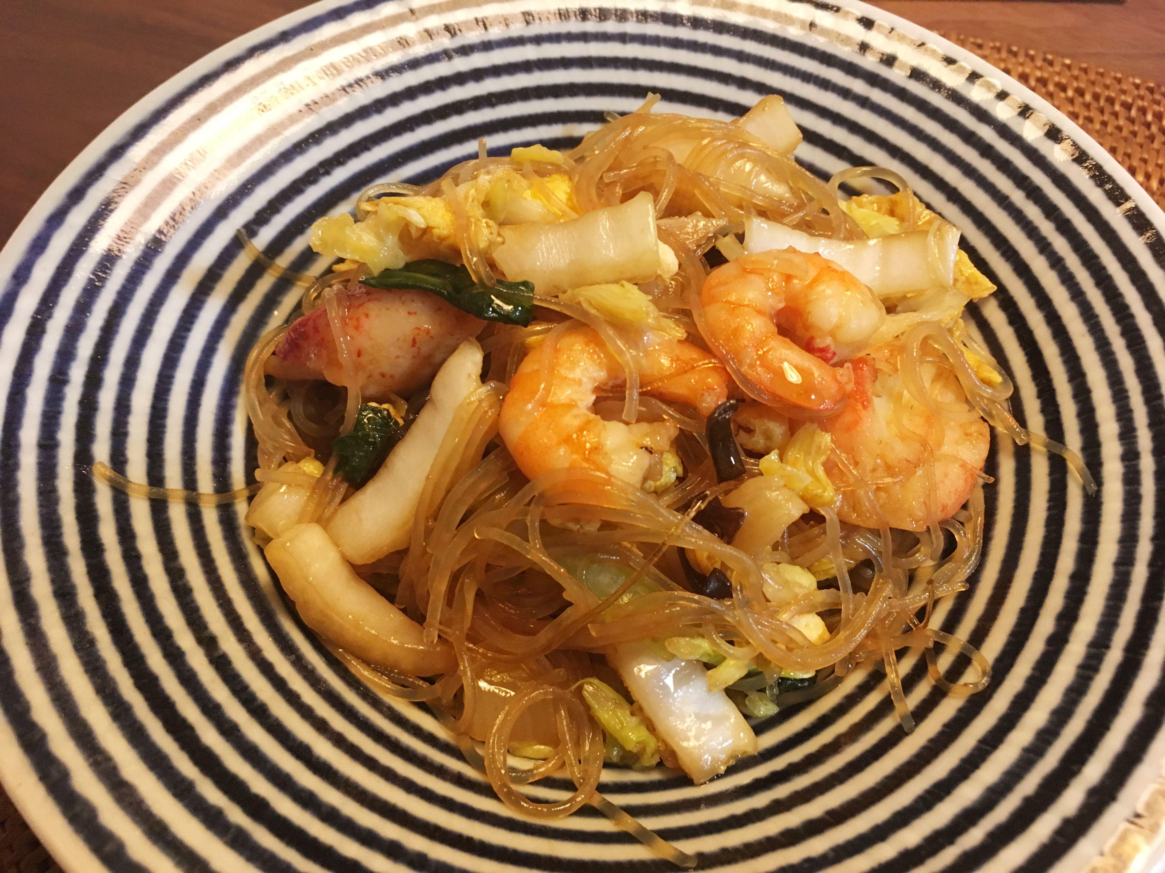 【料理】生協(コープ)のミールキット「ごま油香る!海鮮の中華春雨炒め」を作ってみた!