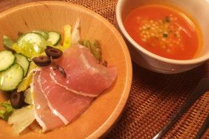 【料理】生協(コープ)のミールキット「ひんやり!ガスパチョ(香味野菜のトマトスープ)&生ハムサラダ」を作ってみた!