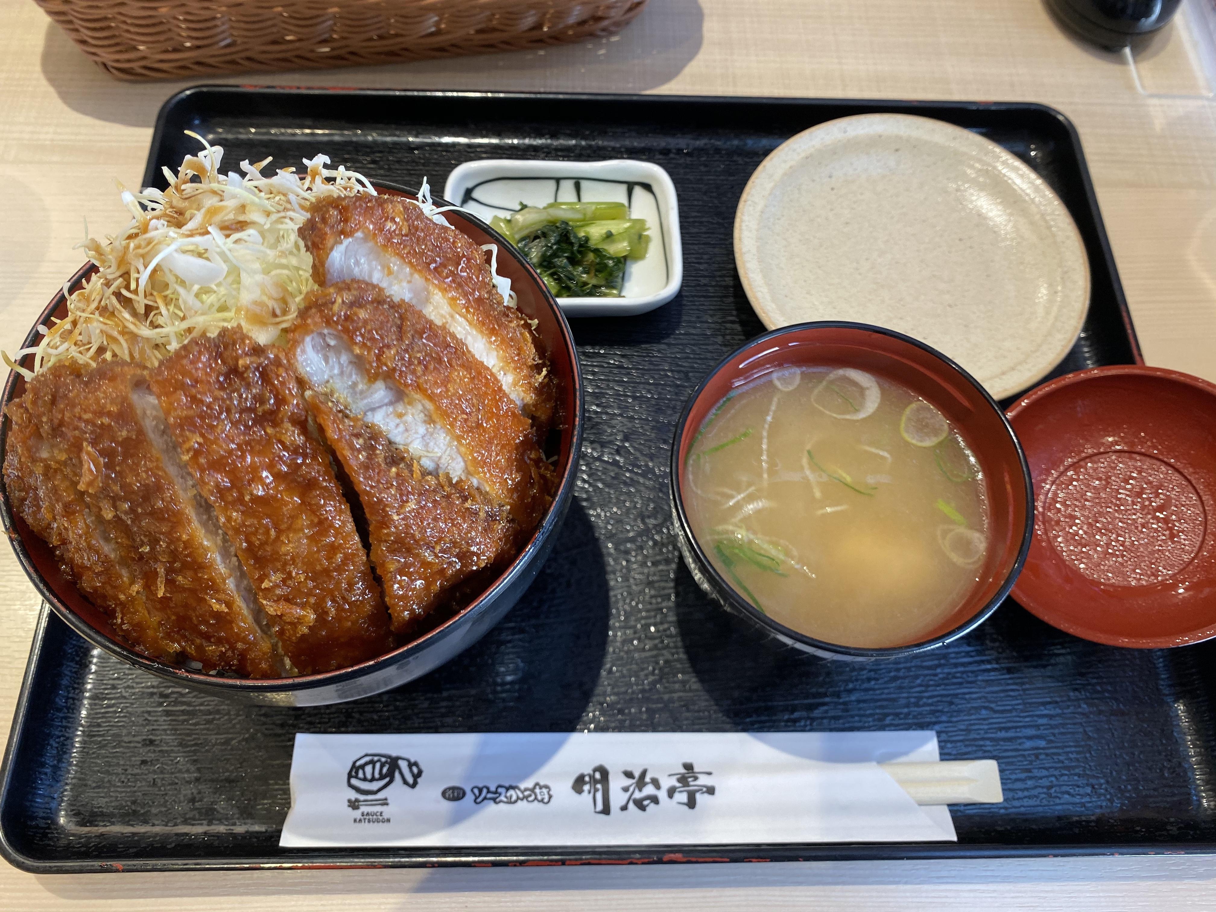 【長野駅から1分】駅直結の駒ケ根名物!明治亭の「ソースかつ丼」がボリューミーでおいしかった♪